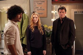MYKO OLIVER, MOLLY QUINN, NATHAN FILLION