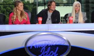 American Idol judges Mariah Carey, Keith Urban and Nicki Minaj