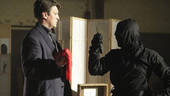 "CASTLE - ""The Way of the Ninja"" - When a Japanese ballet dancer is mysteriously murdered, Castle and Beckett's investigation into her secret life uncovers evidence that she was killed by a ninja, and now that ninja is coming after them, on ""Castle,"" MONDAY, MARCH 17 (10:01-11:00 p.m., ET) on the ABC Television Network. (ABC/Nicole Wilder)NATHAN FILLION"